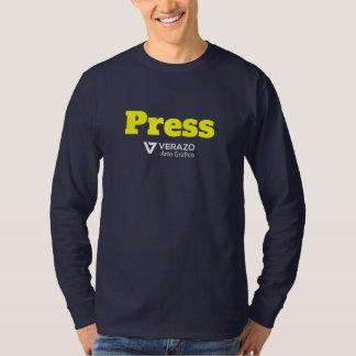 Krijg uw pers credentieoverhemd met bedrijflogo t shirt