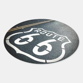 Krijg Uw Schoppen op Route 66 Ovale Stickers