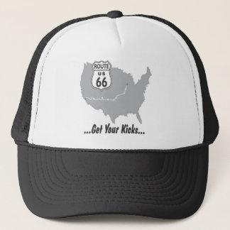 Krijg Uw Schoppen op Route 66 T-shirts en Giften Trucker Pet