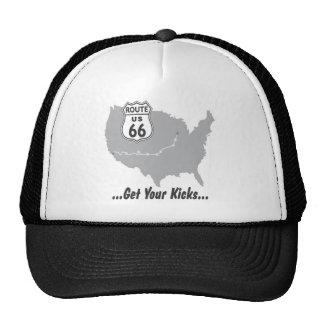 Krijg Uw Schoppen op Route 66 T-shirts en Giften Trucker Petten