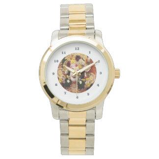 KRISHNA:    Tweekleurig Gouden Zilver Horloge