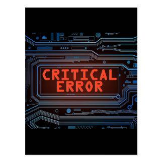 Kritiek foutenconcept briefkaart