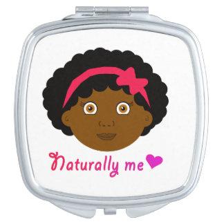 Kroezige krullende compact make-up spiegels