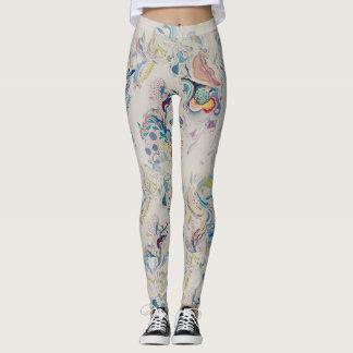 Kromme gekleurde patroonbeenkappen leggings