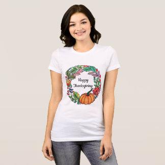 Kroon van de Pompoen van de waterverf de Mooie met T Shirt