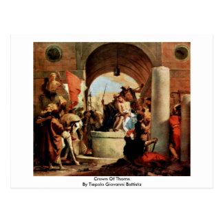 Kroon van Doornen door Tiepolo Giovanni Battista Briefkaart