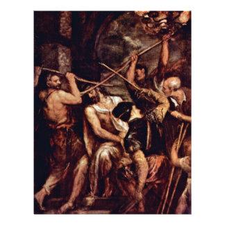 Kroon van Doornen door Tizian (Beste Kwaliteit) Flyer 21,6 X 27,9 Cm