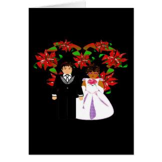 Kroon van het Hart van het Paar van het Huwelijk Notitiekaart