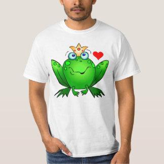 Kroonprins met Kikker van de Cartoon van het Hart T Shirt