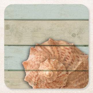 Kroonslak Shell Vierkante Onderzetter