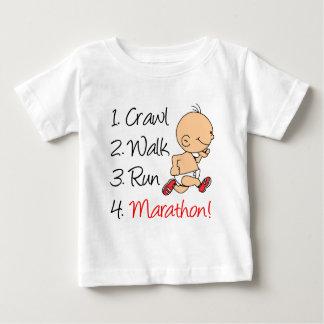 Kruip de Marathon van de Looppas van de Gang Baby T Shirts