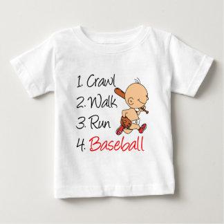 Kruip het Honkbal van de Looppas van de Gang Baby T Shirts