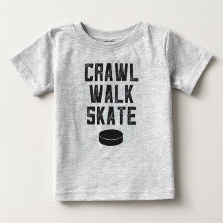 KRUIP van het het ijshockeybaby van het SCHAATS Baby T Shirts