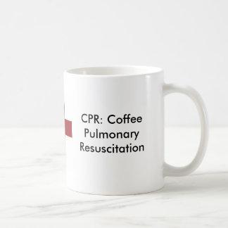 kruis, CPR: De LongReanimatie van de koffie Koffiemok