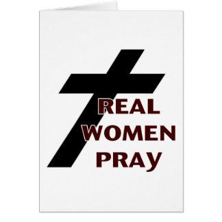 Kruis - de Echte Vrouwen bidden Briefkaarten 0