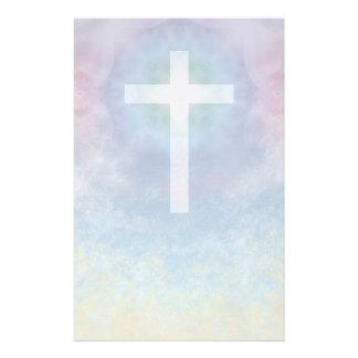Kruis in de kantoorbehoeften van de Hemel Briefpapier