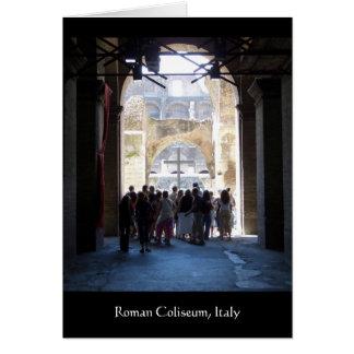 Kruis in Roman Coliseum, Italië Kaart