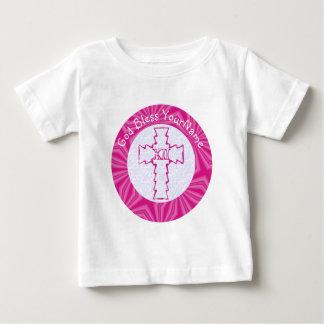 Kruis van de Zigzag van PiHot het Roze met het Baby T Shirts