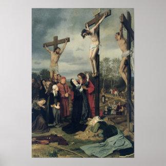 Kruisiging, 1873 poster