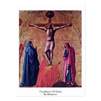 Kruisiging van Christus door Masaccio Briefkaart