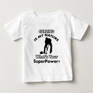 krul ontwerp baby t shirts