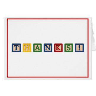 KRW danken u - de Blokken van het Baby Briefkaarten 0