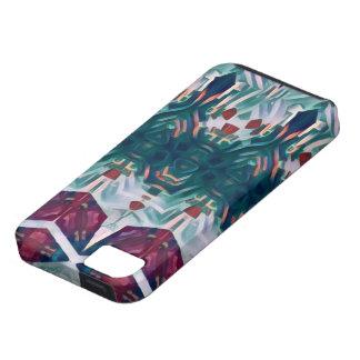 Kubieke bloemen tough iPhone 5 hoesje