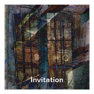 Kubiste Blinden, Deuren & Vensters 13,3x13,3 Vierkante Uitnodiging Kaart