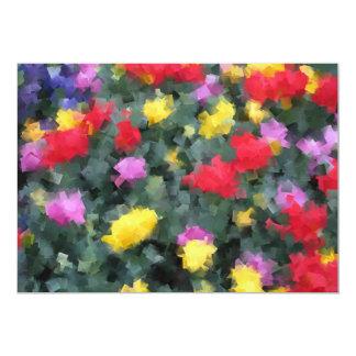 Kubiste Bloemen 12,7x17,8 Uitnodiging Kaart