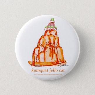 kumquat van tony fernandes jellokat ronde button 5,7 cm