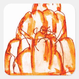 kumquat van tony fernandes jellokat vierkante sticker
