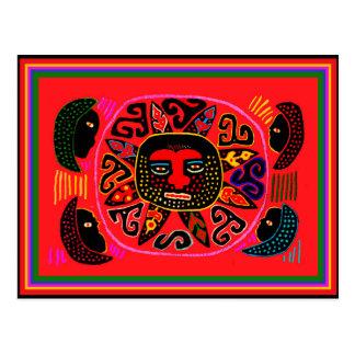 Kuna Tribal Del Sol Briefkaart