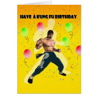 kungfu verjaardag briefkaarten 0