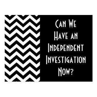 """""""Kunnen wij een Onafhankelijk Onderzoek nu hebben? Briefkaart"""