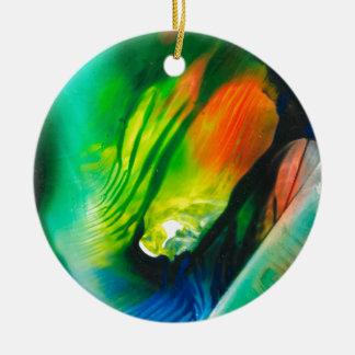 Kunst 0001 van de was rond keramisch ornament