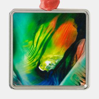 Kunst 0001 van de was zilverkleurig vierkant ornament