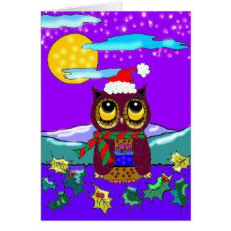 Kunst Creationarts van Kerstmis van de uil de Briefkaarten 0