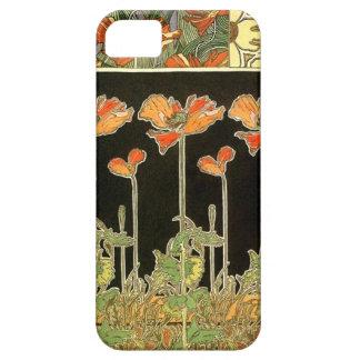 Kunst décoratifs (oranje bloemen) door Alphonse Barely There iPhone 5 Hoesje