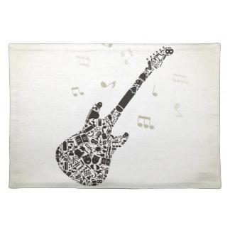 Kunst een gitaar placemat