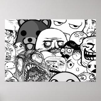 Kunst | het van de muur Collectie Trollface (1/3) Poster