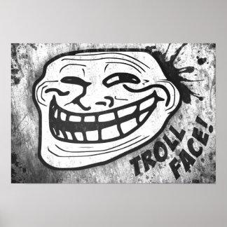 Kunst | het van de muur Collectie Trollface (3/3) Poster