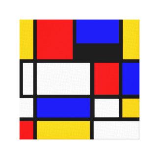 Kunst Stijl Mondrian Canvas Afdruk