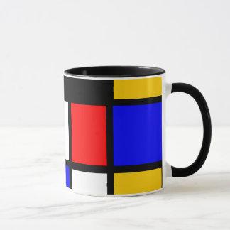 Kunst Stijl Mondrian Mok