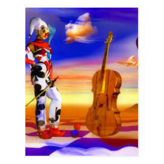 Kunst van de de violen surreal nota van de muziek briefkaart