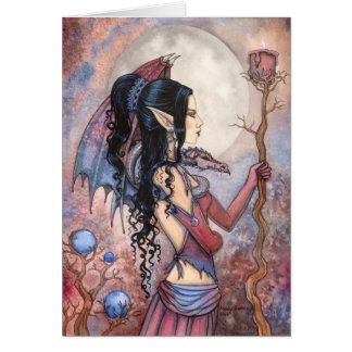 Kunst van de Fantasie van het Meisje van de draak Kaart