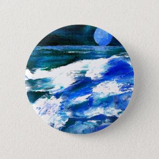 Kunst van de Golven van het Lied van de maan de Ronde Button 5,7 Cm
