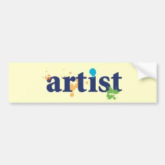 Kunstenaar Bumpersticker
