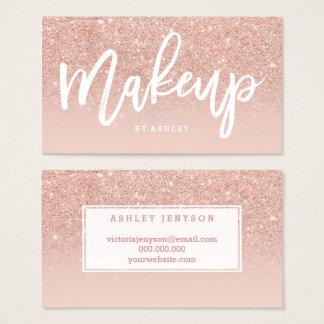Kunstenaar van de make-up de elegante typografie visitekaartjes