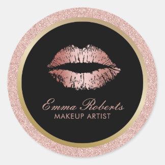 Kunstenaar van de make-up nam Goud schittert de Ronde Sticker