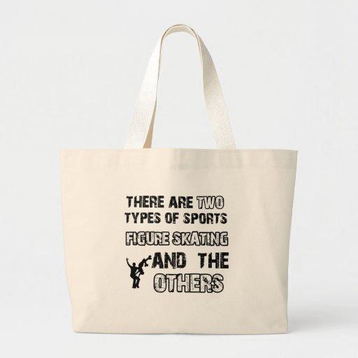 kunstschaats design voor minnaars van de sport draagtas
